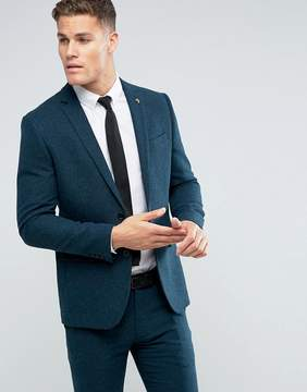 Farah Skinny Blazer In Hopsack Fabric
