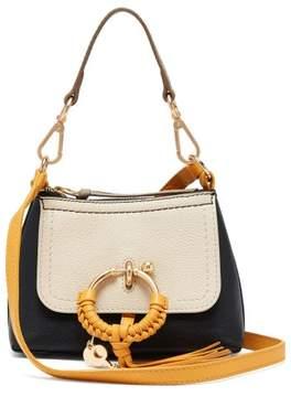 See by Chloe Joan Colour Block Mini Leather Cross Body Bag - Womens - Yellow Multi