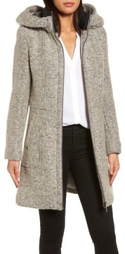 Donna Karan Women's Dkny Hooded Boucle Wool Blend Anorak