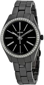 Rado HyperChrome Black Dial Ladies Diamond Ceramic Watch