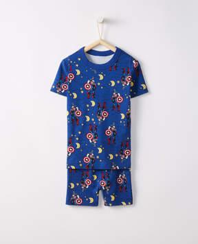 Hanna Andersson Marvel Captain America Short John Pajamas In Organic Cotton