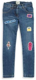 Moncler Little Girl's & Girl's Patch Jeans