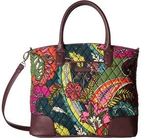 Vera Bradley Day Off Satchel Satchel Handbags - AUTUMN LEAVES/CHOCOLATE - STYLE