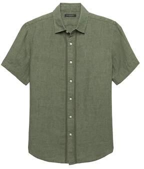 Banana Republic Camden Standard-Fit Stitch Detail Linen Shirt