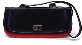 Stuart Weitzman Red & Black Leather Shoulder Baguette