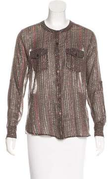 Antik Batik Long Sleeve Button-Up Top