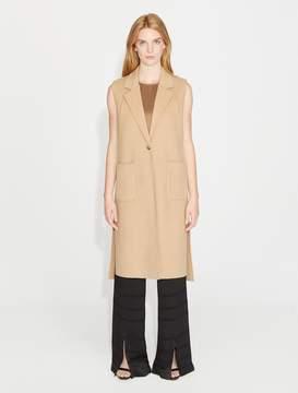 Halston Long Wool Waistcoat