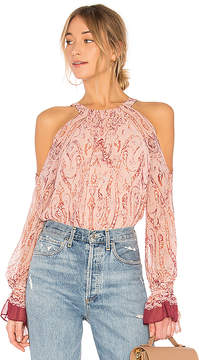 BCBGMAXAZRIA Sessilee Long Sleeve Cold Shoulder Top