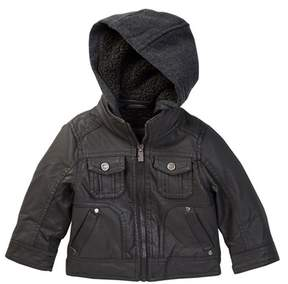 Urban Republic Faux Leather Jacket with Fleece (Baby Boys)