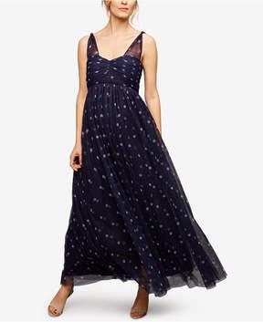 A Pea in the Pod Maternity Polka-Dot Maxi Dress