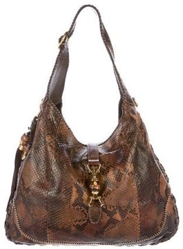 Gucci Python New Jackie Bag - BROWN - STYLE