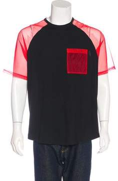 Christopher Kane Mesh Short Sleeve T-Shirt