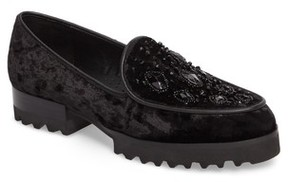 Donald J Pliner Women's Elen Beaded Velvet Loafer