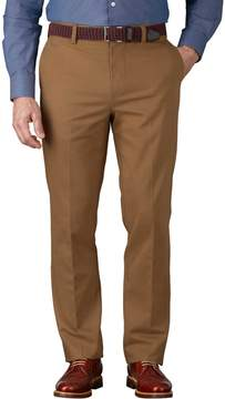 Charles Tyrwhitt Camel Slim Fit Flat Front Non-Iron Cotton Chino Pants Size W38 L34