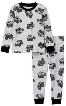 Petit Lem Pajama Top & Bottom 2-Piece Set (Toddler & Little Boys)