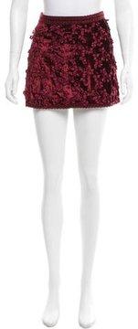 Andrew Gn Embroidered Velvet Skirt