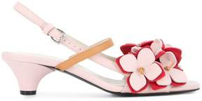 Marni floral slingback pumps