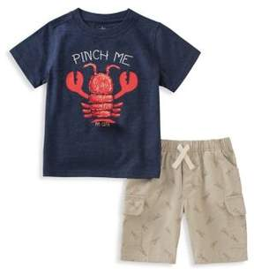 Kids Headquarters Little Boy's Two-Piece Lobster-Print Tee and Shorts Set