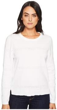 Michael Stars Cotton Knits Reversible Pullover with Sleeve Slashes Women's Clothing