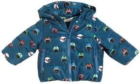 Stella McCartney Helmets Print Hooded Nylon Puffer Jacket