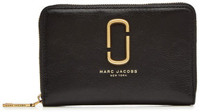 Marc Jacobs Small Standard Leather Wallet - BLACK - STYLE