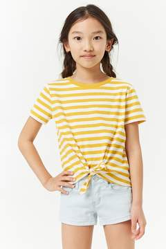 Forever 21 Girls Striped Tie-Front Tee (Kids)