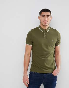 Jack Wills Edgware Tipped Polo in Green