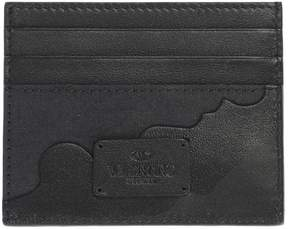 Valentino Leather And Cotton Canvas Cardholder