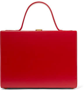 Mark Cross Rear Window Overnight Mini Glossed-leather Tote - Red