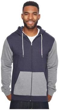 DC Rebel Contrast Fleece Zip Hoodie Men's Sweatshirt