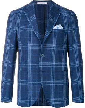 Cantarelli checked slim-fit jacket