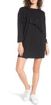 Everly Women's Tulle Ruffle Sweatshirt Dress