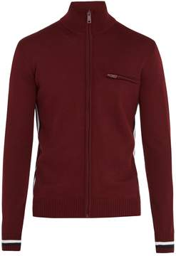 Prada Stripe-detail zip-through wool sweater