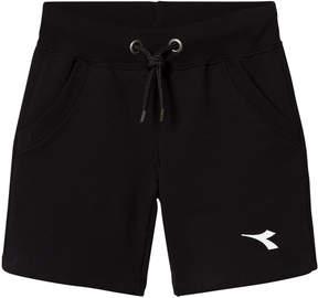 Diadora Black Branded Track Shorts