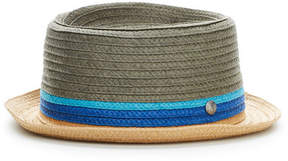 Perry Ellis Multi-Color Braided Straw Fedora