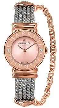 Charriol St-Tropez Light Pink Sunray Dial Ladies Watch