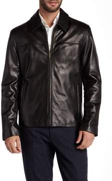 Cole Haan Genuine Leather Zip Jacket