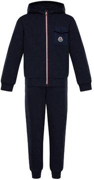 Moncler Zip-Up Hooded Jacket w/ Sweatpants, Size 8-14