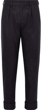 MAISON KITSUNÉ Joe Slim-Fit Pleated Wool-Blend Trousers