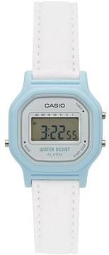 Casio Women's Casual Digital Watch, White/Blue