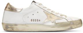 Golden Goose Deluxe Brand White Sparkle Superstar Sneakers