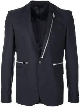 Les Hommes zip trim blazer