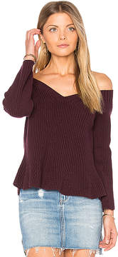 525 America Crop Peplum Sweater