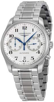 Longines Master Chronograph Automatic Silver Dial Stainless Steel Men's Watch