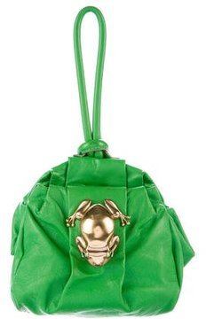 Marc Jacobs Leather Rana Clutch - GREEN - STYLE