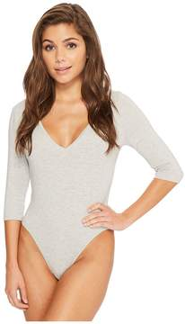 Felina Modal Bodysuit with V-Neck and 3/4 Sleeve Women's Jumpsuit & Rompers One Piece