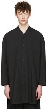 D.gnak By Kang.d Black V-Neck Shirt