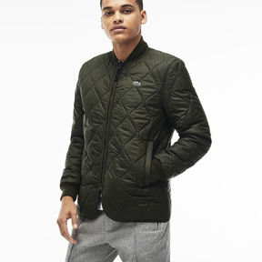 Lacoste Men's Live Fine Banana Collar Quilted Jacket