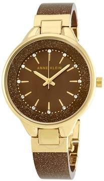Anne Klein Annie Klein Brown and Gold Shimmer Bangle Watch