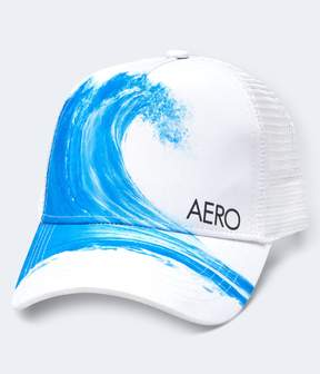Aeropostale Catch A Wave Adjustable Trucker Hat